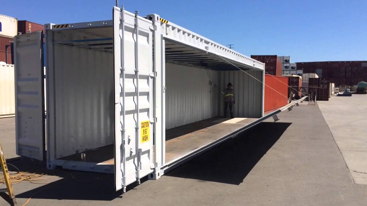Container 40 feet side open (2)