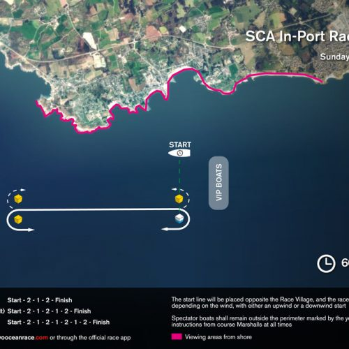 IN-PORT RACE COURSE MAP LORIENT