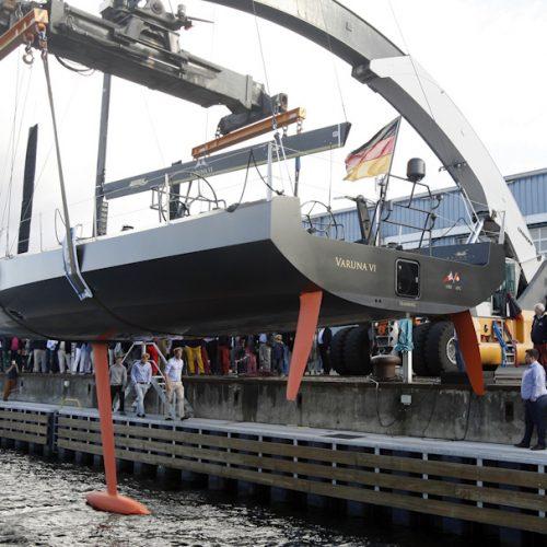 Taufe der bei Knierim Yachtbau gebauten Segelyacht VARUNA