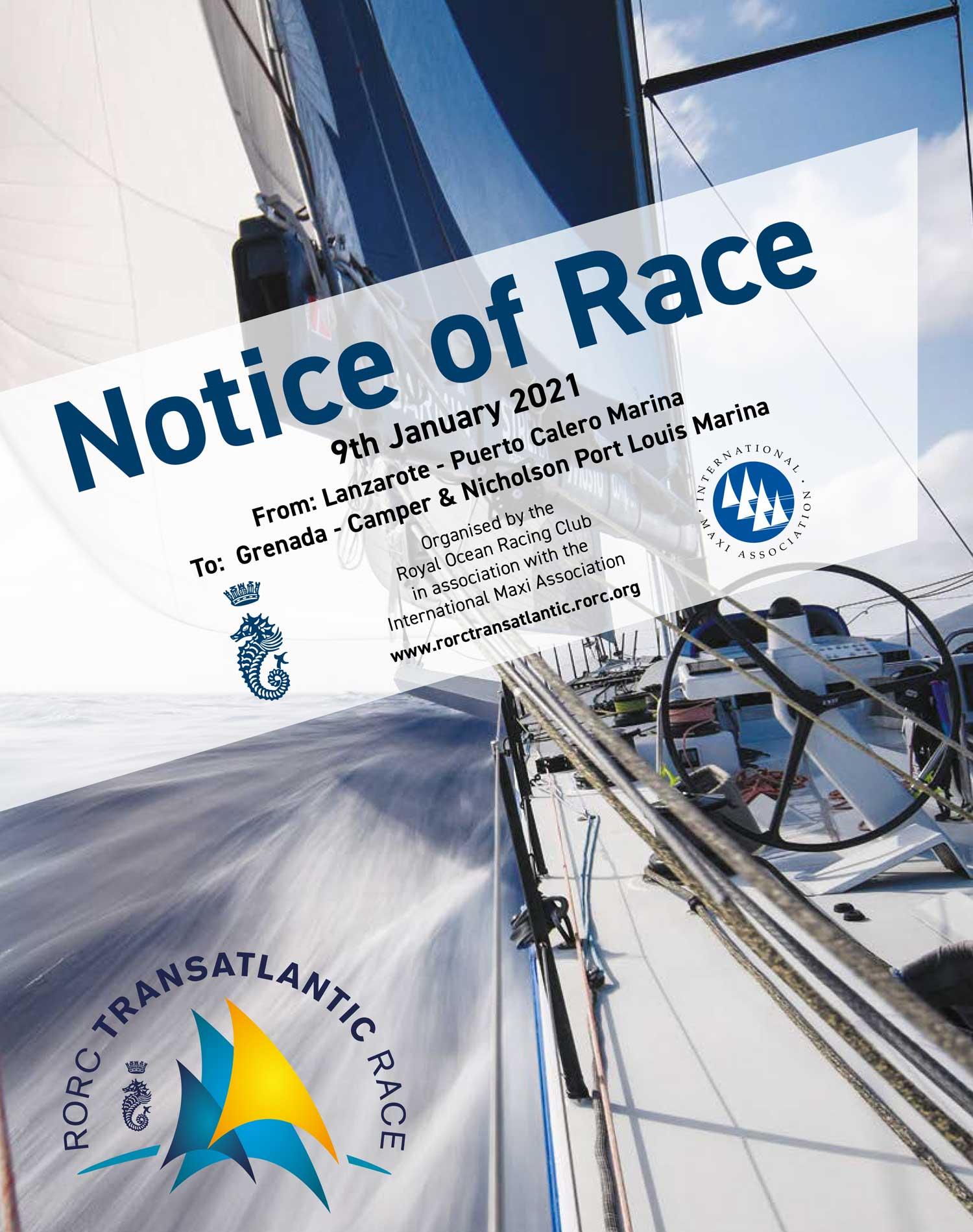 Idag… RORC Transatlantic Race