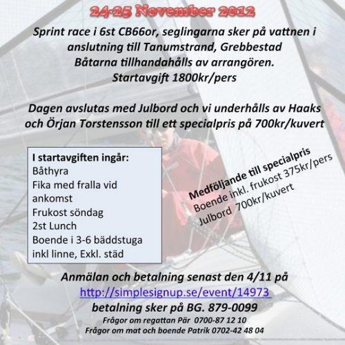 Tanumstrand Winter Sail Race 24-25 nov