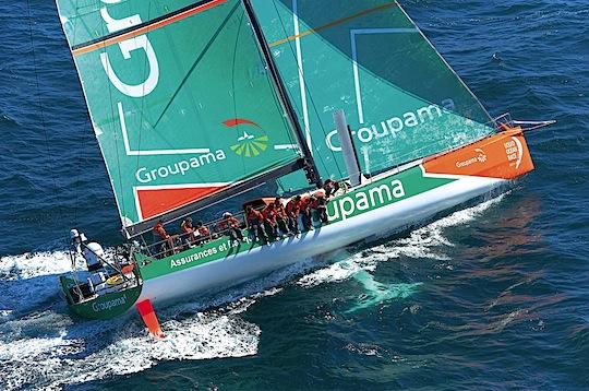 Initial sea trials on Groupama 4