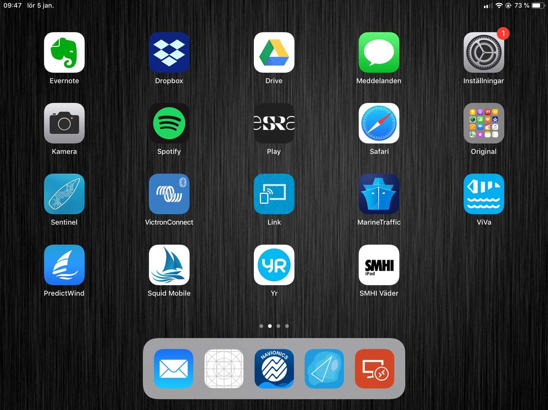 iPad ombord – vad finns på vår?