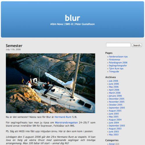 BLUR.se anno 2006