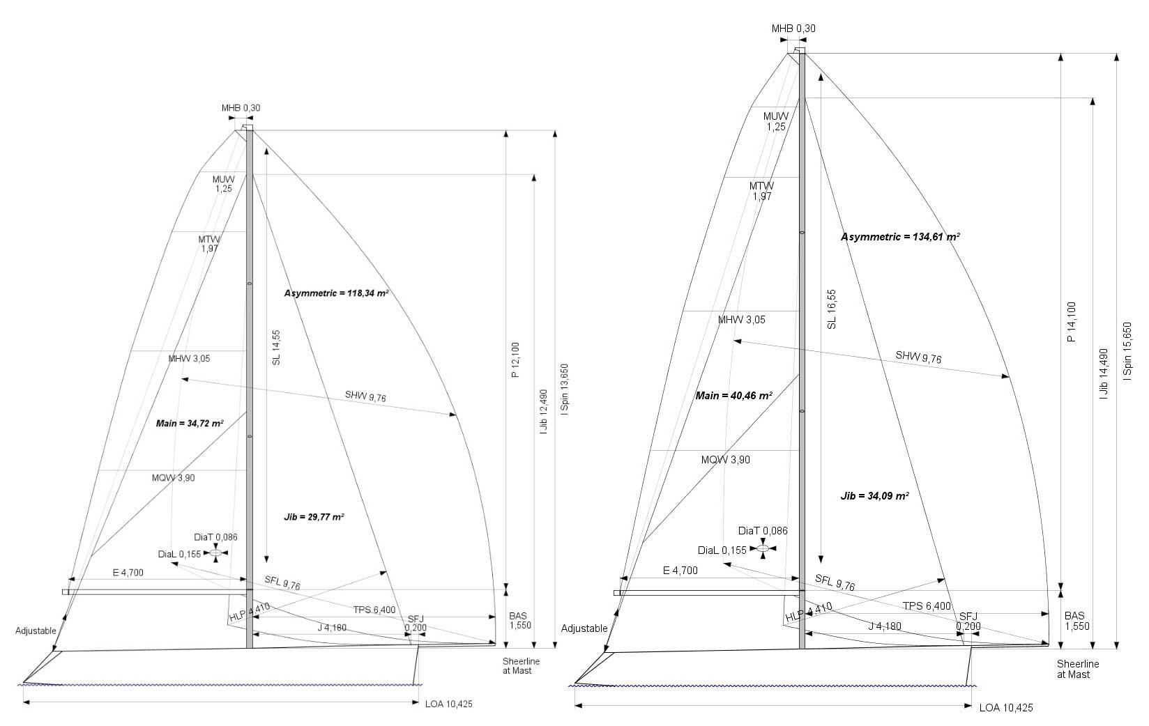 Celeste 34 Sport | sail plan