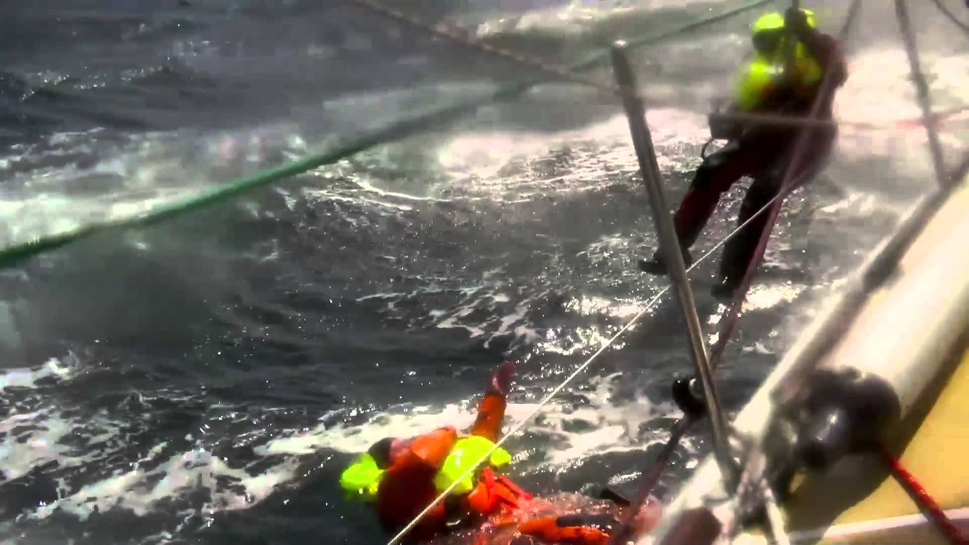 Dramatisk MOB under Clipper Race