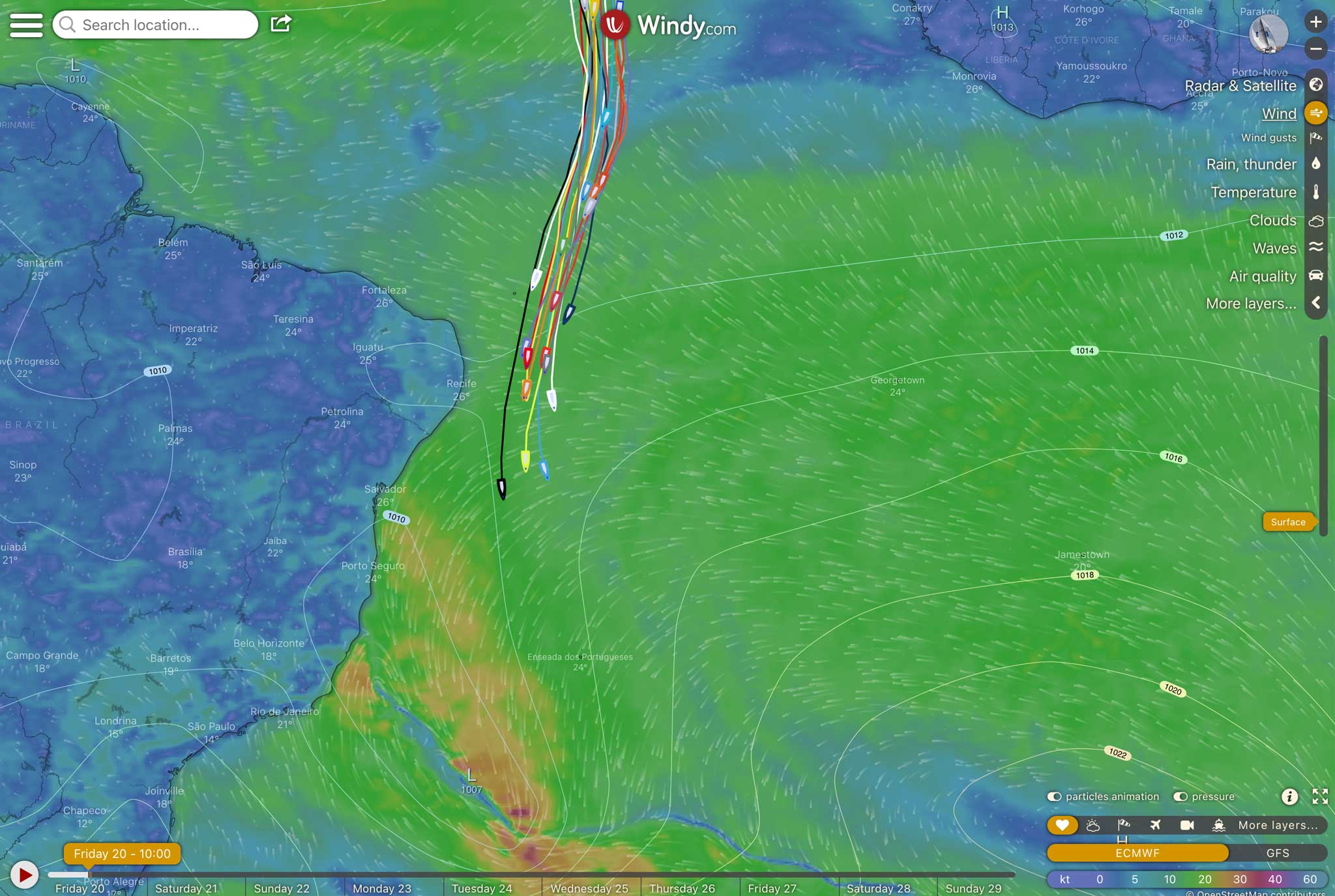 Vendee Globe + Windy
