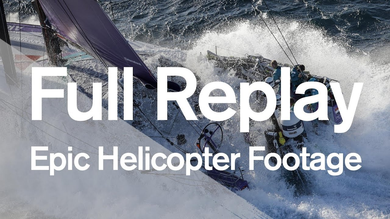 Epic helicopter footage of the Leg 2 start!