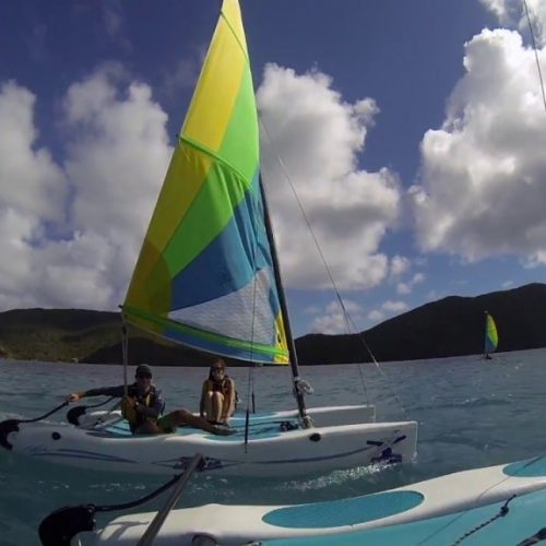 Hobie racing på Virgin Gorda