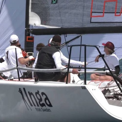 Inga from Sweden spikade i Melges 32
