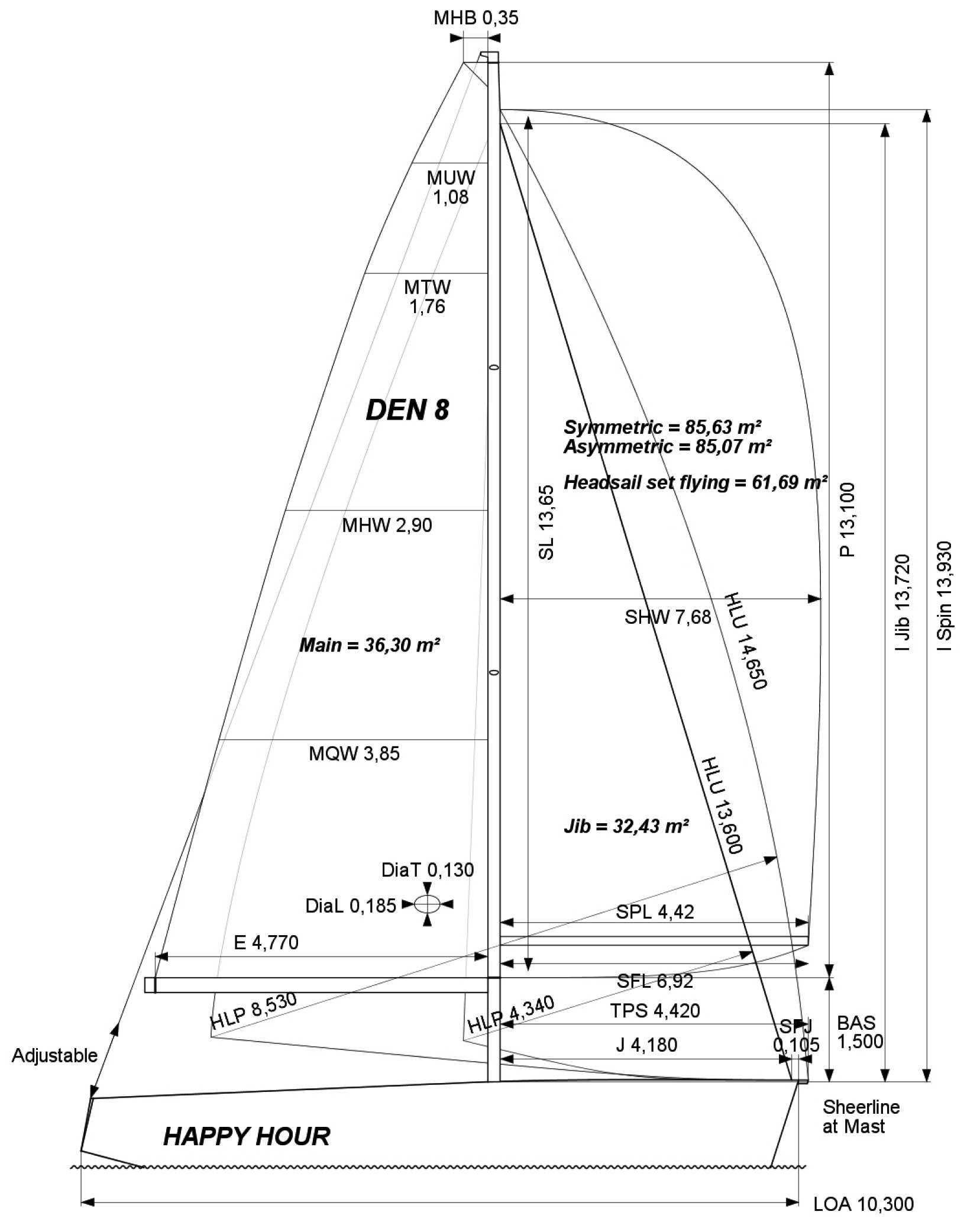 italia998-sailplan