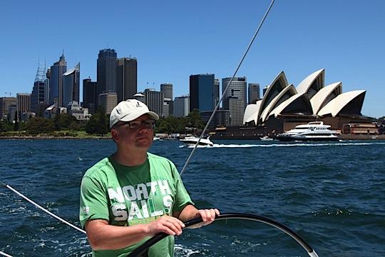 Peter Gustafsson sailing J/111 Sydney blur.se