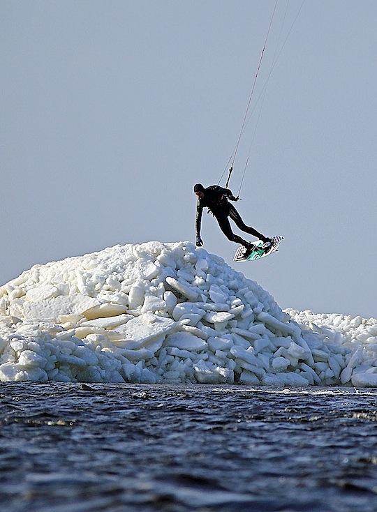 Kitesurfing på Lagan