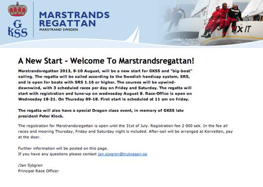 Dags att anmäla sig till Marstrandsregattan