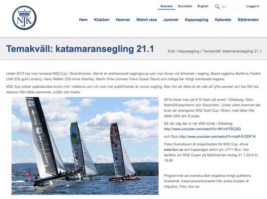 M32 Cup på Finlandsbesök 21/2