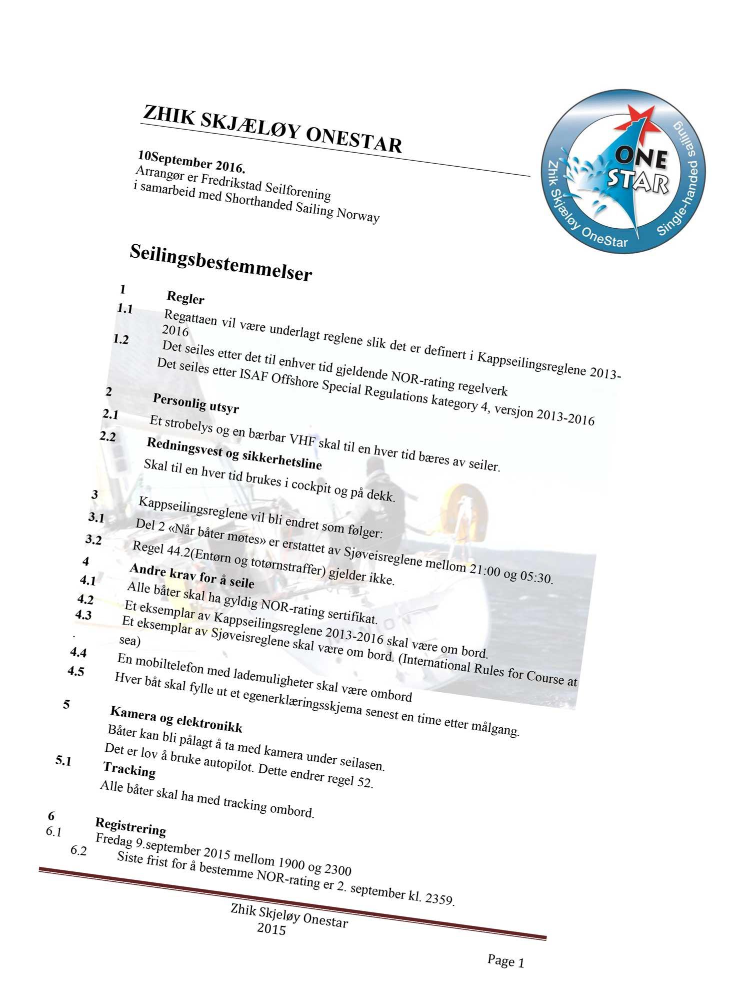 Zhik Skjæløy OneStar 10/9