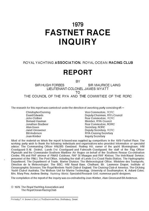Fastnet Race Inquiry
