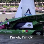 Rejäl krasch i Extreme Sailing Series