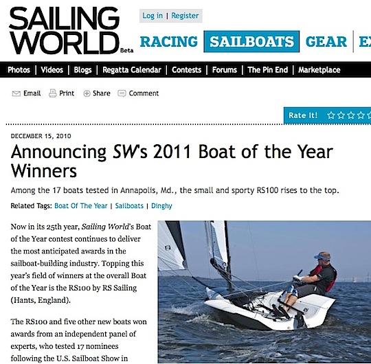 Sailing World BOTY 2011
