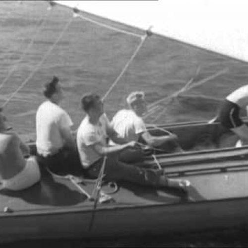 Scow-segling på 30-talet