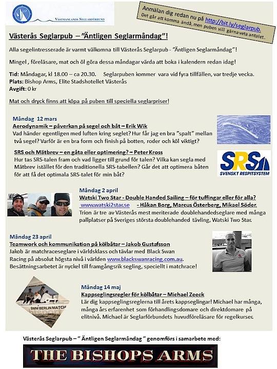Västerås Seglarpub | Äntligen seglarmåndag