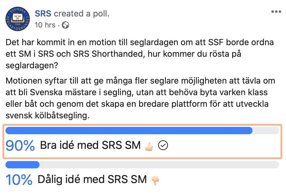 SM i SRS och SRS Shorthanded