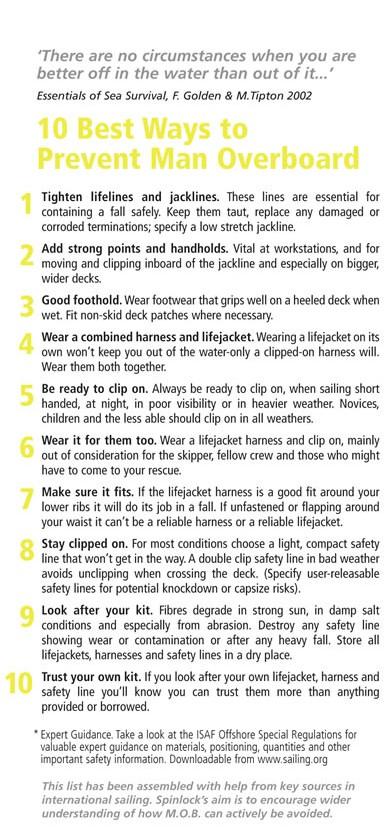 Ten Best Ways to Prevent Man Overboard