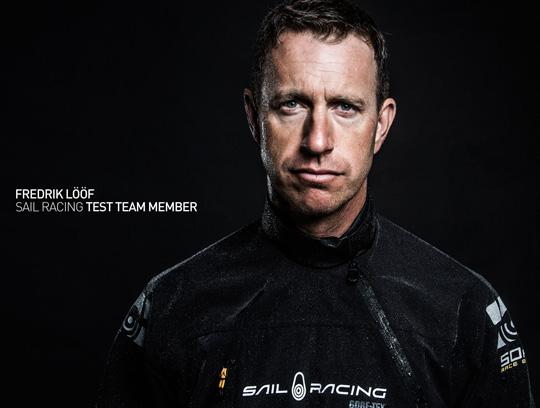 Lööf i Sail Racings test team