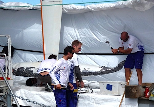 Telefonica Blue keel bulb damage Marstrand 2009