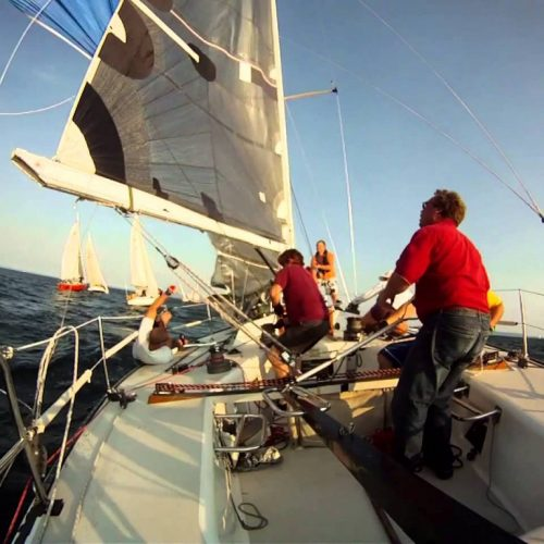 The perfect spinnaker take down